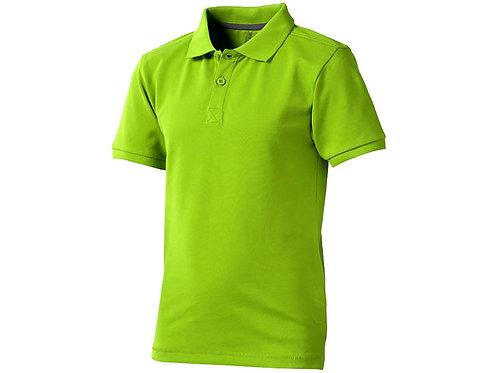 """Рубашка поло """"Calgary"""" детская, зеленое яблоко"""