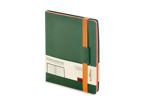 Ежедневник В5 недатированный «Leggenda», зеленый