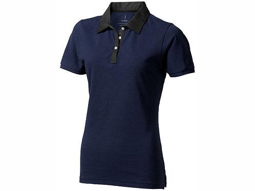 """Рубашка поло """"York"""" женская, темно-синий/антрацит"""