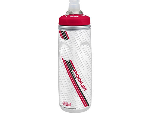 Бутылка CamelBak Podium ChilL 0,62л, белый/красный