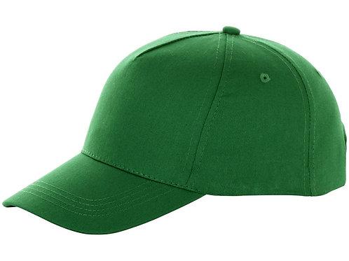 "Бейсболка ""Brunswick"", 5 панелей, зеленый"