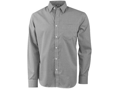 """Рубашка """"Net"""" мужская с длинным рукавом, серый"""