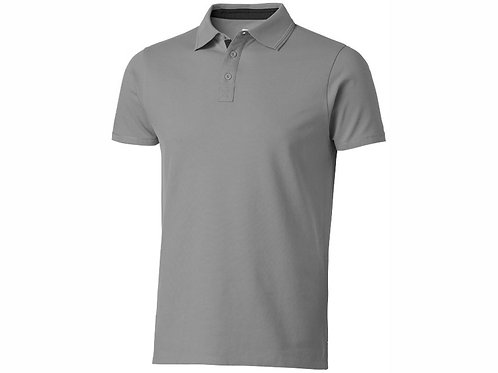 """Рубашка поло """"Hacker"""" мужская, серый/черный"""