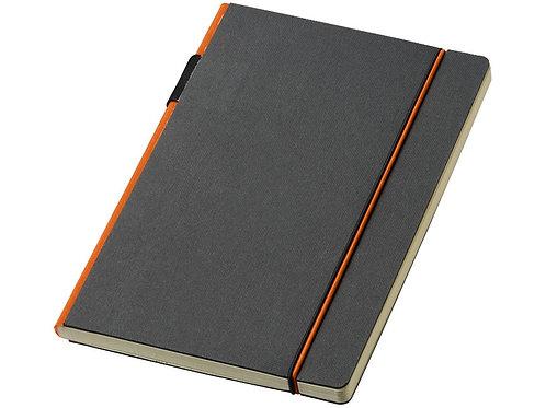 """Блокнот А5 """"Cuppia"""", черный/оранжевый"""