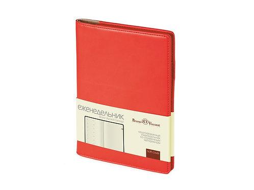 Еженедельник недатированный А5 «Concept», красный
