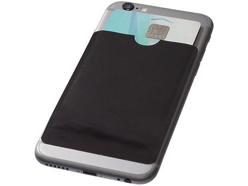 Бумажник для карт с RFID-чипом для смартфона, черный