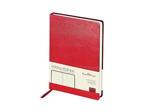 Ежедневник недатированный А5 «Megapolis», красный