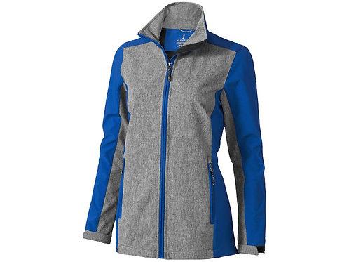 """Куртка софтшел """"Vesper"""" женская, синий/темно-серый"""