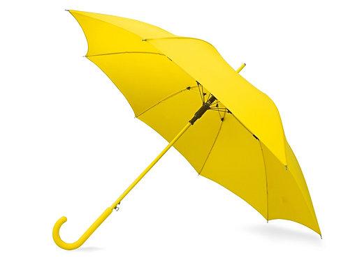 """Зонт-трость """"Color"""" полуавтомат, желтый"""