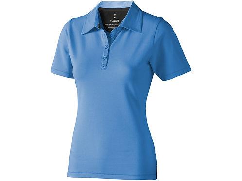 """Рубашка поло """"Markham"""" женская, голубой/антрацит"""