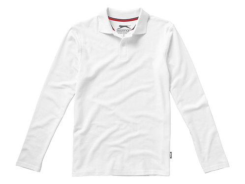"""Рубашка поло """"Point"""" мужская с длинным рукавом, белый"""