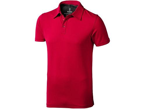 """Рубашка поло """"Markham"""" мужская, красный/антрацит"""