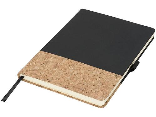 Блокнот Evora формата A5 из пробки и термополиуретана, черный