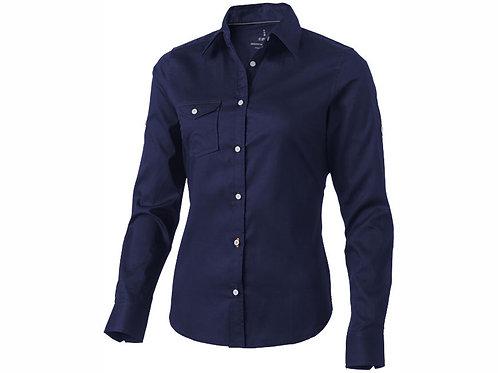 """Рубашка """"Nunavut"""" женская с длинным рукавом, темно-синий"""