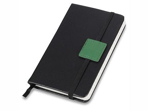 """Блокнот А6 """"Label"""" черный/зеленый. Lettertone"""
