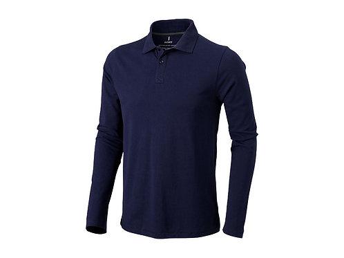 """Рубашка поло """"Oakville"""" мужская с длинным рукавом, темно-синий"""