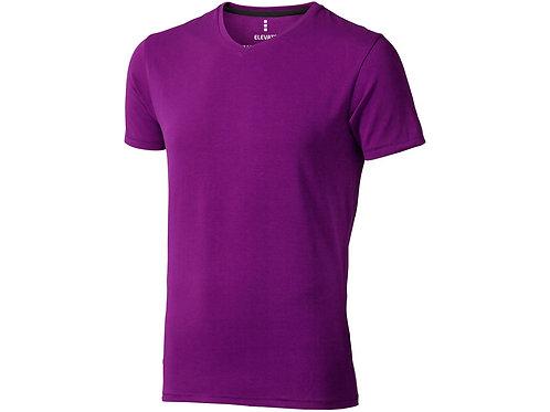 """Футболка """"Kawartha"""" мужская с V-образным вырезом, темно-фиолетовый"""