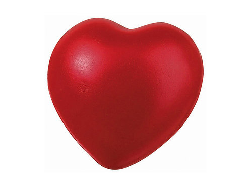 Антистресс в форме сердца, красный