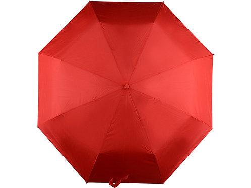 Зонт складной автоматический, красный