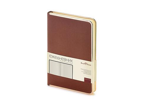 Ежедневник А5 недатированный «Chelsea», коричневый