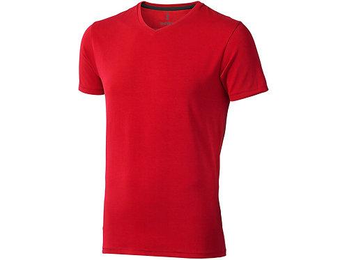 """Футболка """"Kawartha"""" мужская с V-образным вырезом, красный"""