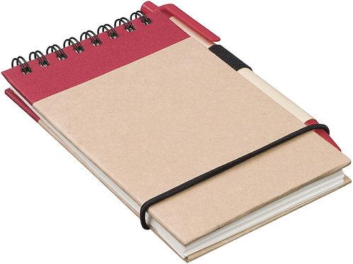 """Блокнот А7 """"Zuse"""" с ручкой шариковой, красный"""