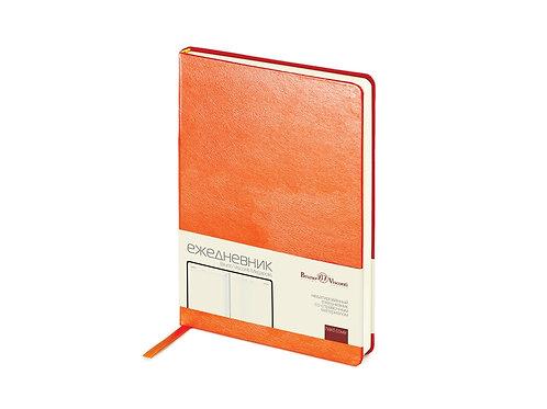 Ежедневник недатированный А5 «Megapolis», оранжевый