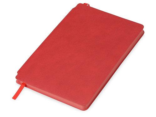 Блокнот «Notepeno» 130x205 мм с тонированными линованными страницами, красный