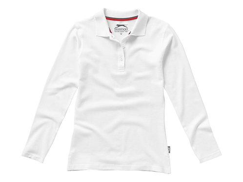"""Рубашка поло """"Point"""" женская с длинным рукавом, белый"""