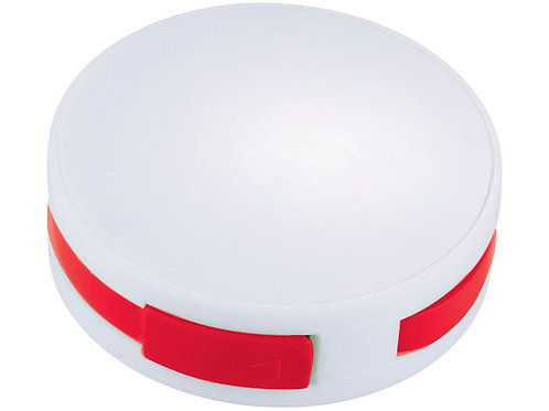 """USB Hub """"Round"""", на 4 порта, белый/красный"""