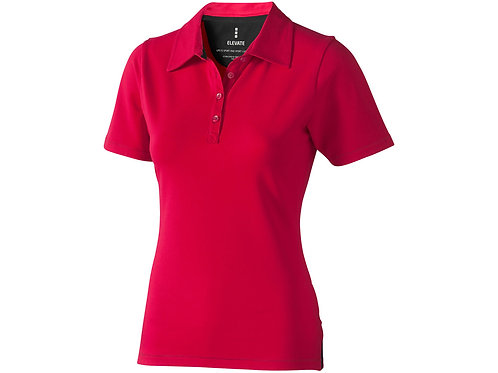 """Рубашка поло """"Markham"""" женская, красный/антрацит"""