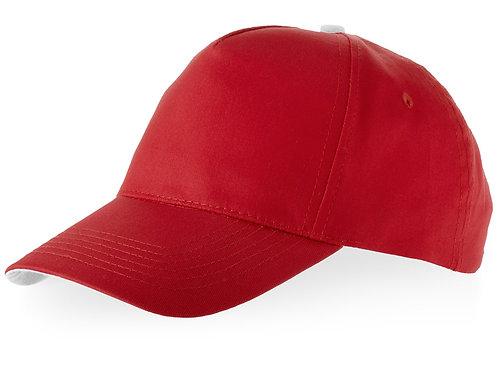 """Бейсболка """"Brunswick"""", 5 панелей, красный"""