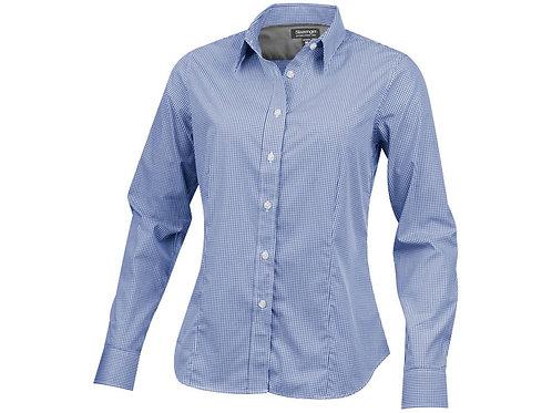 """Рубашка """"Net"""" женская с длинным рукавом, синий"""