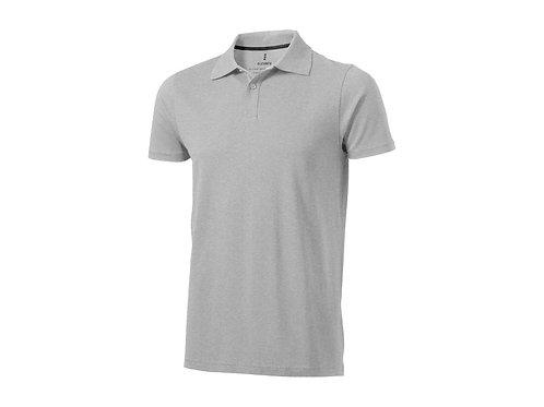 """Рубашка поло """"Seller"""" мужская, серый меланж"""