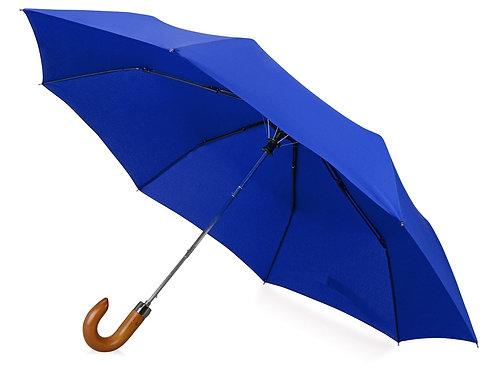"""Зонт складной """"Cary """", полуавтоматический, 3 сложения, с чехлом, темно-синий"""
