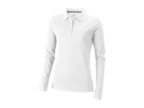 """Рубашка поло """"Oakville"""" женская с длинным рукавом, белый"""