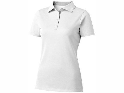 """Рубашка поло """"Hacker"""" женская, белый/серый"""