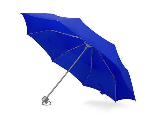 """Зонт складной """"Tempe"""", механический, 3 сложения, с чехлом, синий"""