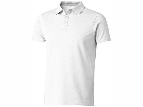 "Рубашка поло ""Hacker"" мужская, белый/серый"