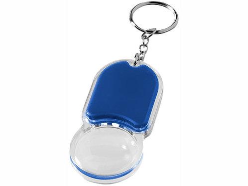 """Брелок """"Zoomy"""" с увеличительным стеклом и фонариком, ярко-синий"""