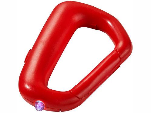 """Брелок """"Proxima"""" с карабином и фонариком, красный"""