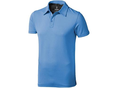 """Рубашка поло """"Markham"""" мужская, голубой/антрацит"""