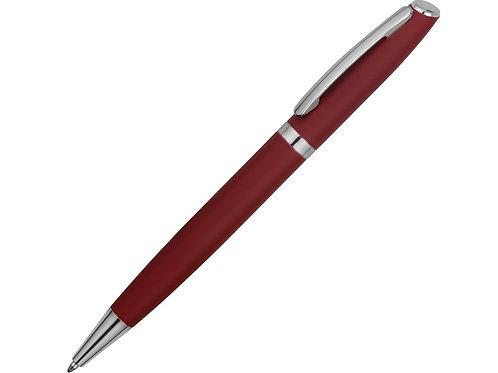 Ручка металлическая шариковая «Flow» soft-touch, красный/серебристый
