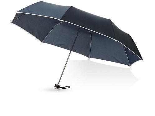 """Зонт складной """"Линц"""", механический 21"""", темно-синий"""