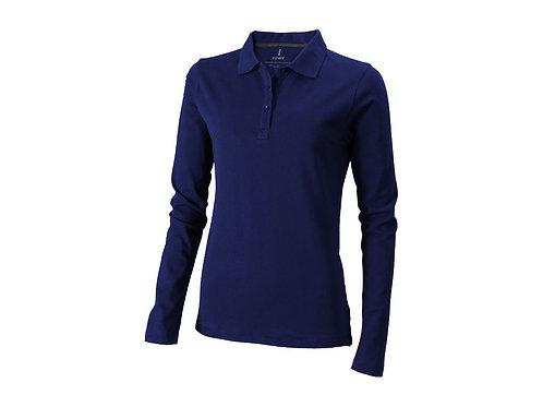 """Рубашка поло """"Oakville"""" женская с длинным рукавом, темно-синий"""