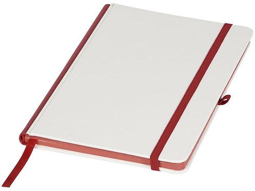 Блокнот А5 «Solid», белый/красный