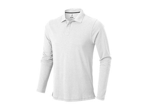 """Рубашка поло """"Oakville"""" мужская с длинным рукавом, белый"""