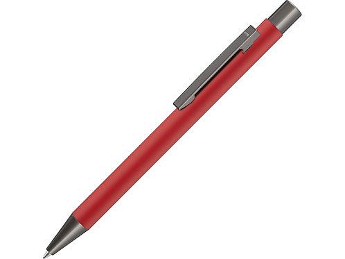 Ручка  UMA «STRAIGHT GUM» soft-touch, с зеркальной гравировкой, красный