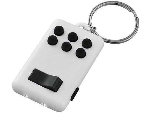 Брелок-фонарик «Flip&Click», белый/черный