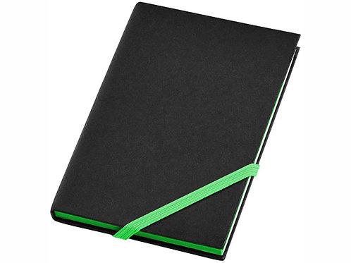 """Блокнот А6 """"Travers Junior"""", черный/зеленый"""
